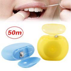 1PCS 50M Interdental Brush Teeth Stick Tooth Picks Dental Floss Oral Hygiene Teeth Clean Stick Toothpicks Oral Care Tool + Case #Affiliate