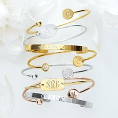 "Chiara Bangle   Gold plated   Shape: Oval   Letter: K   Font: ""biscotti bold - style 558"""