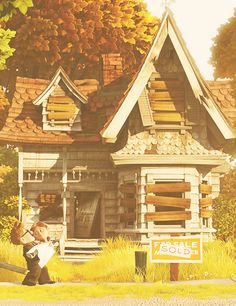 Carl and Ellie's house before it became magical