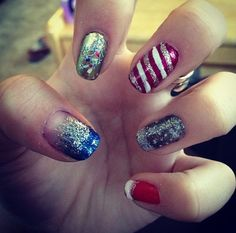 Assorted Christmas/Winter Design Nails