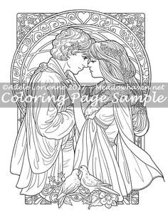 """Art of Meadowhaven Fantasy Coloring Page Download: """"Be Mine Always"""""""
