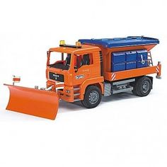 Bruder Toy  MAN Truck with Snow Plow $76.97 http://www.educationaltoysplanet.com/toy-man-truck-with-snow-plow.html
