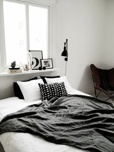 black and white (via BLACKBIRD) - my ideal home...