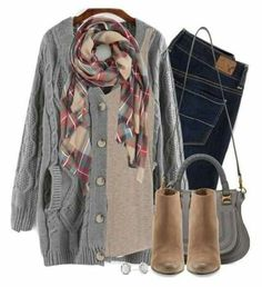 >>>Cheap Sale OFF! >>>Visit>> Gray cable knit wedge boots plaid scarf by steffiestaffie ❤ liked on… Casual Outfits, Cute Outfits, Fashion Outfits, Womens Fashion, Fashion Hacks, Latest Outfits, Fall Fashion Trends, Fashion Clothes, Fashion Tips