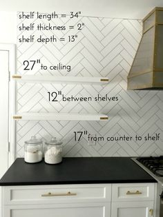open-kitchen-shelves-measurements + gold campaign additions