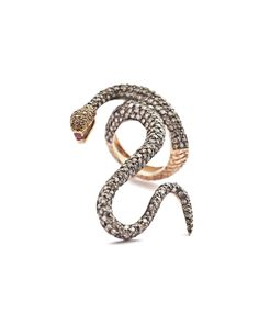 Diamond and Ruby Snake Ring  Handcrafted in Istanbul      Aida Bergsen