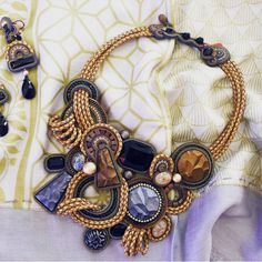 In search of an outfit boost? Look no further than our need-it-now Opera statement necklace!  - as seen on display at Calanit Bisuteria, Sotogrande, Spain  #doricsengeri #sotogrande #statement #necklace #couture #jewelry