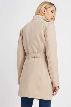 Palton monocromatic cu cordon și revere | ORSAY