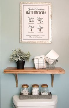 THE PERFECT STYLISH STORAGE! Turn ordinary mason jars into beautiful bathroom storage. www.littlehouseoffour.com