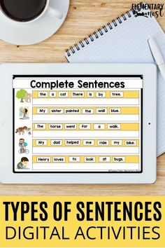 This language activity is for both 1st grade and 2nd grade! It is a digital language activity for sentence types. This can be used for both first grade and second grade students. The activity comes ready-made in Google Slides. The resource aligns with the 1st and 2nd grade Common Core standard L.1.1.j and L.2.1.f. It helps students produce simple and compound sentences, as well as expand and rearrange sentences. Sentence Types, Types Of Sentences, Sentence Writing, Common Core Ela, Common Core Standards, First Grade Activities, Learning Activities, Simple And Compound Sentences, Teaching Grammar