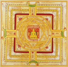 Vidya Yantra Patra or the Knowledge Yantra Plate Alchemy Symbols, Sacred Symbols, Indian Gods, Indian Art, Tantra Art, Shri Yantra, Classic House Design, Astrology Books, Hindu Rituals