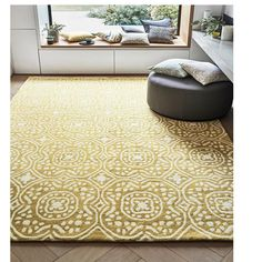 Chella Quince rug of the Romo collection has a Moroccan inspired design depicted through sumptuous wool yarns creating a luxuriant appearance and feel. Romo Fabrics, Contemporary Fabric, Hand Tufted Rugs, Modern Traditional, Wool Area Rugs, Wool Rug, Rugs On Carpet, Decorative Items, The Help