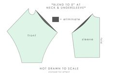 *** scoop out the excess fabric at the front of a raglan sleeve ***