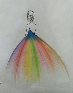 Fashion Drawings - - Fashion Drawings – - - Fashion Show Cute Easy Drawings, Girly Drawings, Beautiful Drawings, Colorful Drawings, Girl Drawing Sketches, Art Drawings Sketches Simple, Pencil Art Drawings, Color Pencil Art, Easy Art