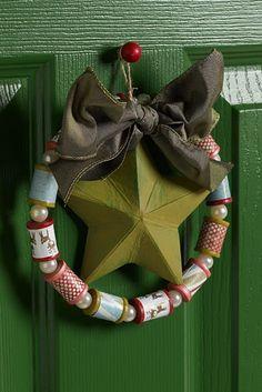 wreath from repurposed spools