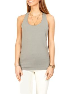 Find the latest designer clothing, footwear and accessories from leading brands. Green Tank Top, Basic Tank Top, See Through Blouse, Loose Tops, Green And Grey, Cool Outfits, Clothes For Women, Tank Tops, Casual