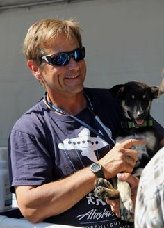 Martin Buser.  Iditarod champion.  Nice guy.  Top Dog.  When I finally make it to Alaska I plan to visit Happy Trails Kennels.