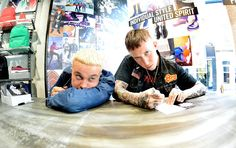 Slaves at the in-store signing and meet & greet in our new Dr. Martens Derby store. Photographed by Mark Richards.