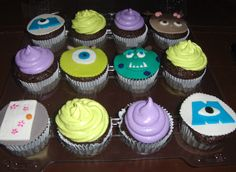 Monster's Inc. Cupcakes