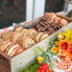 Rustic wedding cookie bar that has a relaxed, but elegant look.  See more cookie bar wedding favors and party ideas at www.one-stop-party-ideas.com