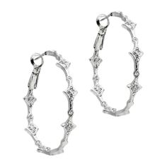 "2"" sterling silver hoops with a sparkle that looks almost like real diamonds! http://muchlush.kitsylane.com"