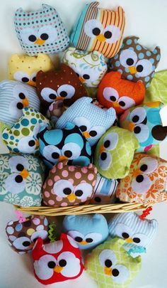 Mini owl bean bags.