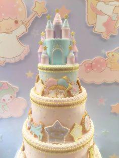 Little Twin Stars Castle Cake Kawaii