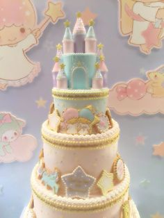 Little Twin Stars Castle Cake Kawaii                                                                                                                                                                                 More
