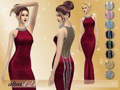Bright Night dress by altea127 at TSR via Sims 4 Updates