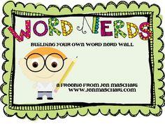 Word Nerd Wall