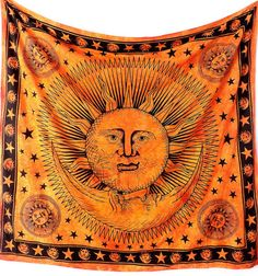 Bedspreads – Sun pictorial Gpsy bohemein wall tapestry – a unique product by INDIANTRADITIONAL on DaWanda