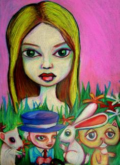 I love love love this artist. His name is Kimba Ross and he does the most evocative amazing Alice series.