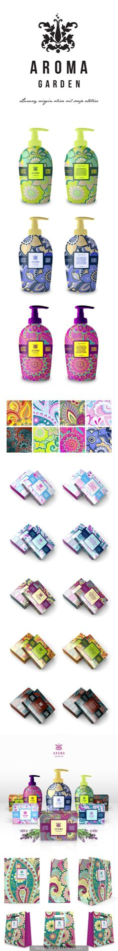 Aroma Garden Cosmetics each one is prettier than the next #packaging PD: