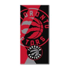 """Raptors National Basketball League, """"""""Puzzle"""""""" 34""""""""x 72"""""""" Over-sized Beach Towel"""