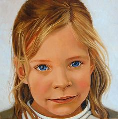girl, 40x 40cm, oil on canvas ©ermine