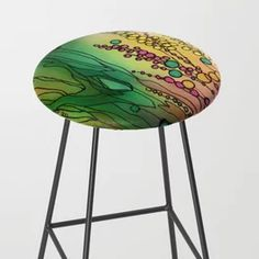 Sunwashed Blooms Bar Stool Beautiful Paintings Of Nature, Paintings I Love, Nature Paintings, Glassell School Of Art, Bedroom Artwork, Artwork Ideas, Shape And Form, Organic Shapes, Cool Walls