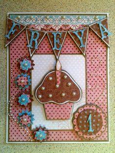Evelina Wikberg: First birthday card