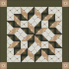 Log Cabin Carpenter ... by Judit Hajdu   Quilting Pattern - Looking for your next project? You're going to love Log Cabin Carpenter Star - King Size:105 by designer Judit Hajdu. - via @Craftsy