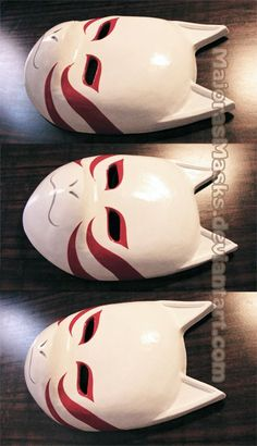 MASK SETS FOR SALE: -^-^-^-^-^-^-^-^-^-^-^-^-^-^-^-^-^-^-^-^-^ Sold to: (who commissioned the base version); [Naruto]Shadow of the ANBU Black Ops mask Mascaras Anbu, Kakashi Anbu Mask, Japanese Fox Mask, Kitsune Mask, Anime Crafts, Masks For Sale, Black Ops, Mask Design, Hand Tattoos