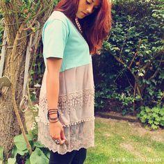 Bohemian Top Ruffled Lace Tunic Mini Dress by TheBohemianDream
