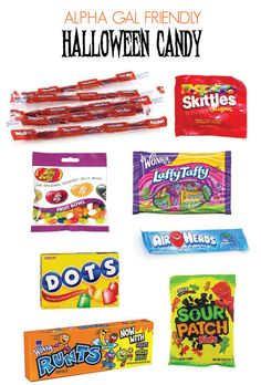 Halloween Candy Guide for Alpha Gal...