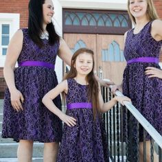 This Elegant Lace Ladies Dress is a DU NORTH EXCLUSIVE DESIGN that you won't find anywhere else! Dress also has matching children's sizes!