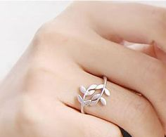 Olive leaf ring.  I love how simple it is.