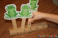 F for frog - speckled frogs on a log