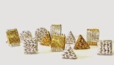 Katherine Bowman Sterling silver with yellow gold plate stud earrings
