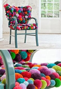 Pom Pom Chair for Girl's Bedroom