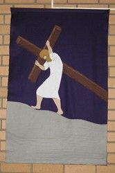 One of four Lenten banners made by Laura Lipe for St. Timothy UMC, Brevard, NC.