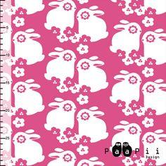 Emrose Designs, LLC - Paapii Pink Bunnies Organic Cotton Knit, $15.95 (http://www.emrosedesigns.com/paapii-pink-bunnies-organic-cotton-knit/)