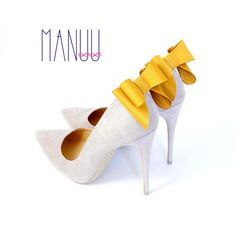 Mustard bows - shoe clips Manuu,  bow shoe clips, shoe bows, Schuhclips, mustard theme wedding, mustard shoe clips, mustard shoes