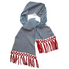 Nautical Knitted Lambswool Scarf